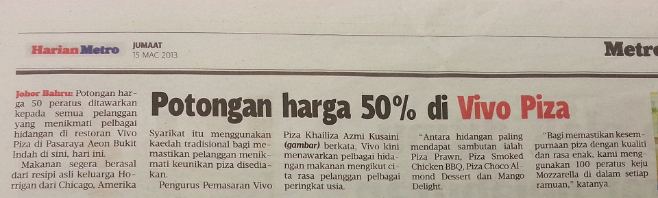 Harian Metro vivo day